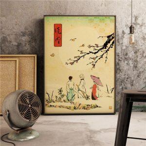 Poster Mural Cerisier Du Japon