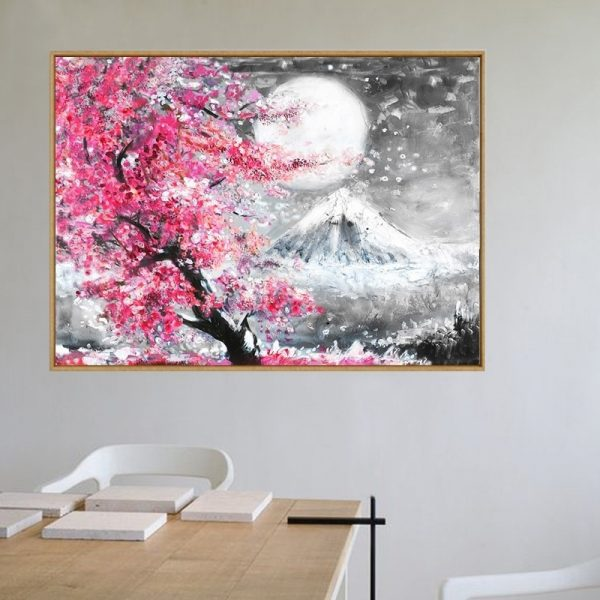 Poster Japonais Cerisier Mont Fuji