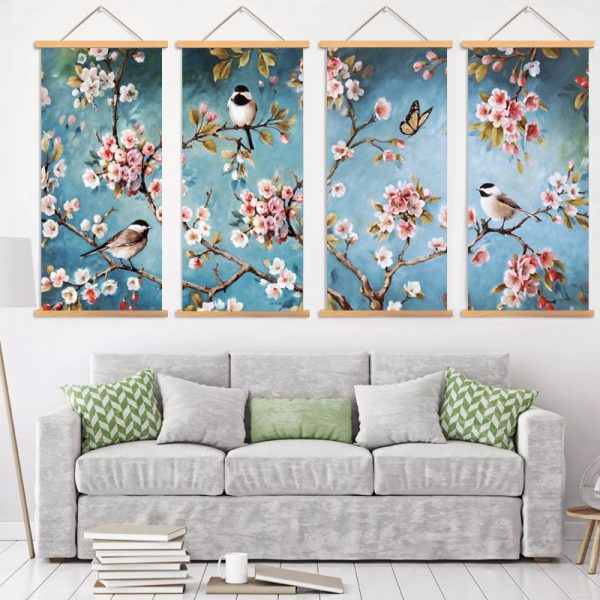 Tableau Cerisier Japonais en Fleur