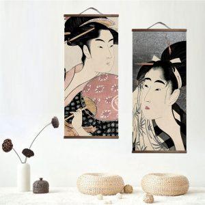 Tableau Portrait Japonais