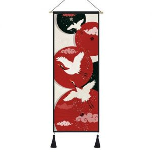 Tableau Japonais Grues Célestes