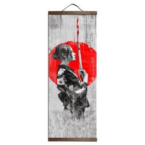 Tableau Japonais Femme & Sabre