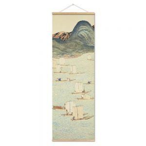 Tableau Japonais Paysage Vintage