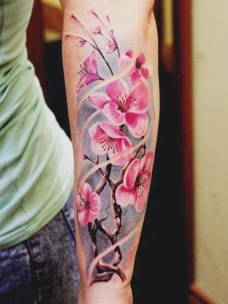 Tatouage de fleurs de cerisier
