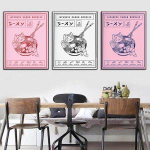 Poster Japonais Chat & Bold de Ramen