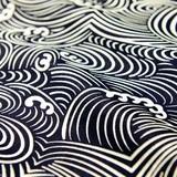 motif vague couleur bleu foncé