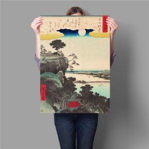 Poster Japonais Paysage Vintage