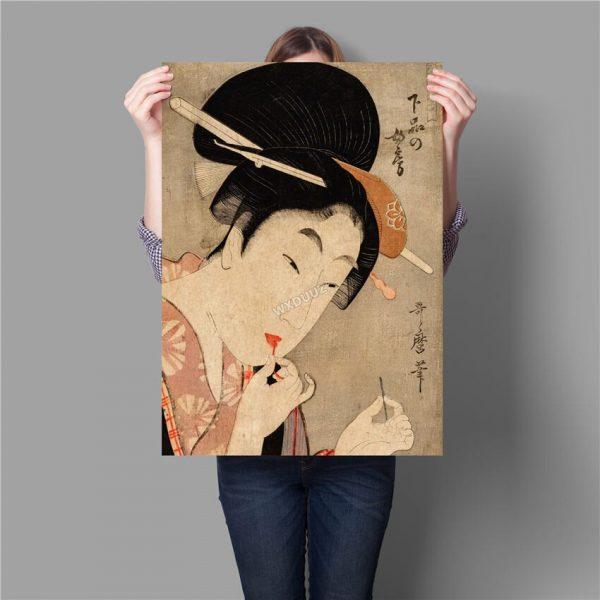 Poster Japonais Femme