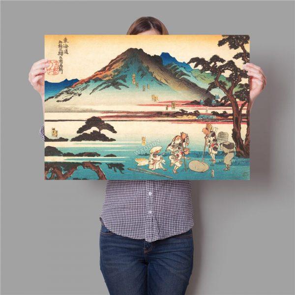 Toile Montagne Japonaise