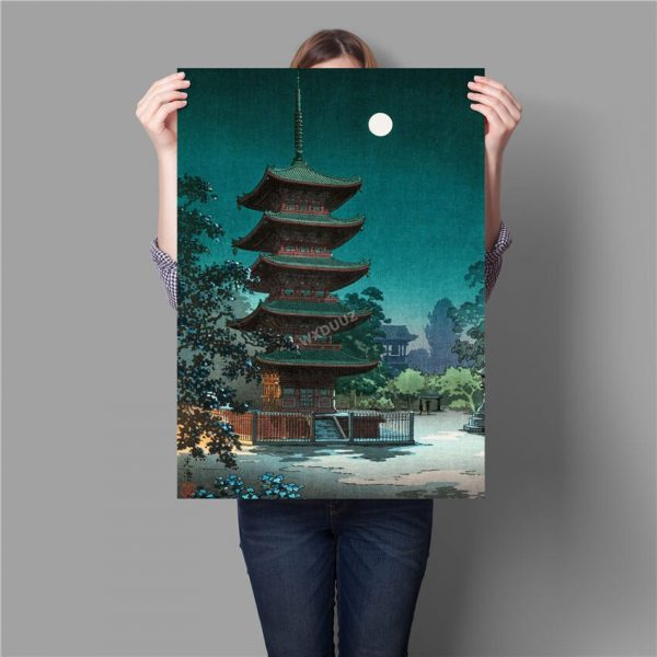 Poster Temple Japonais