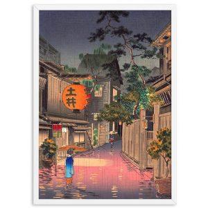 Poster Japonais Ville de Nuit